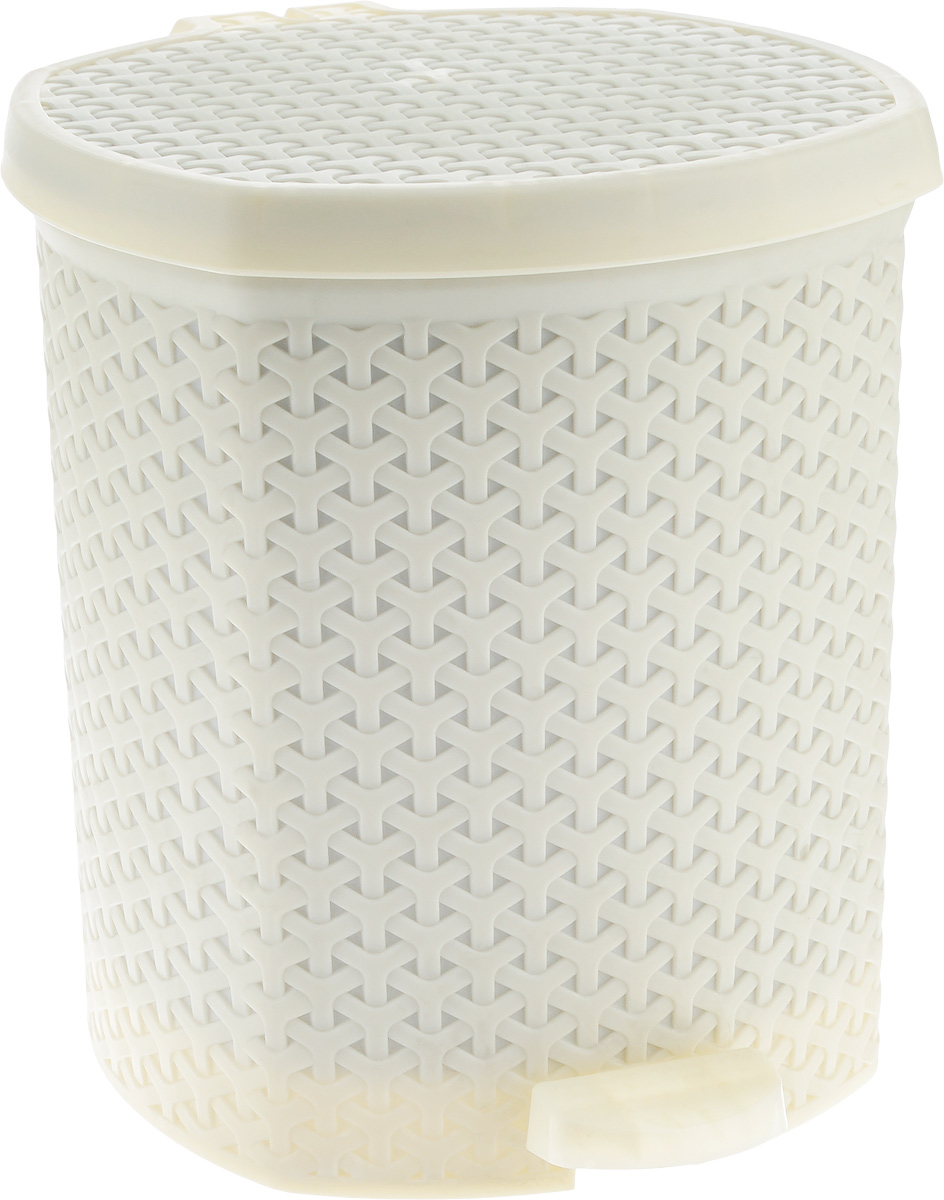 Контейнер для мусора Magnolia Home, с педалью, цвет: бежевый, 12 л3904Мусорный контейнер Magnolia Home очень удобен в использовании как дома, так и в офисе. Изделие, выполненное из прочного пластика, не боится ударов. Контейнер оснащен педалью, с помощью которой можно открыть крышку. Закрывается крышка практически бесшумно, плотно прилегает, предотвращаяраспространение запаха. Внутри пластиковая емкость для мусора, которую при необходимости можно достать из контейнера. Интересный дизайн разнообразит интерьер кухни и сделает его более оригинальным.