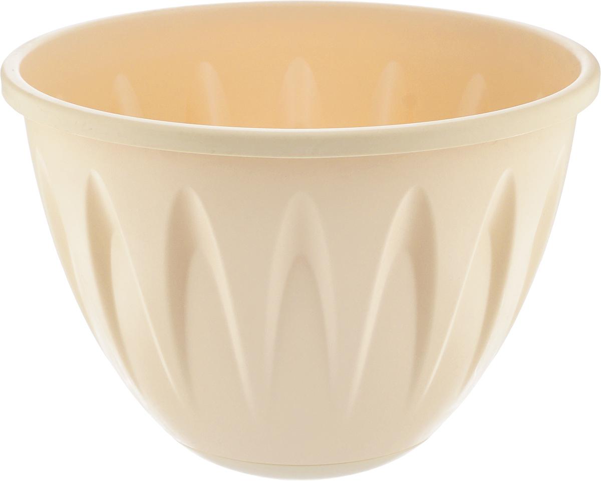 """Кашпо подвесное Idea """"Алиция"""", с поддоном, цвет: белая глина, диаметр 22 см"""