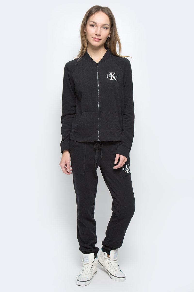 Кофта женская Calvin Klein Underwear, цвет: черный. QS5536E_001. Размер S (42) трусы calvin klein underwear calvin klein underwear ca994ewrgc91
