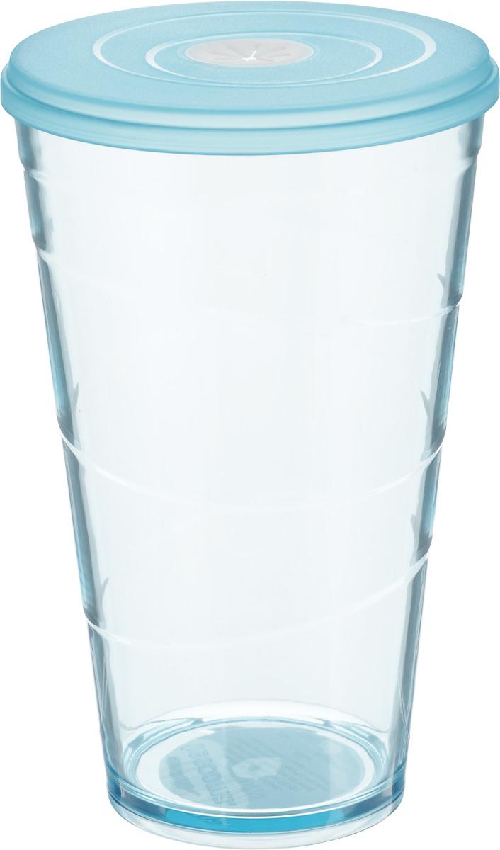 Стакан Tescoma My Drink, с крышкой, цвет: голубой, 600 мл308806.30Стакан Tescoma My Drink выполнен из нетоксичного прочного пластика и абсолютно безопасен в ежедневном использовании. Проверенная технология европейского производства обеспечивает безопасность даже при долгом соприкосновении с пищевыми продуктами или жидкостями. В крышке имеется гибкое отверстие для соломинки. Можно мыть в посудомоечной машине на щадящих программах, выдерживает температуру до 60°С.Диаметр стакана (по верхнему краю): 10 см.Высота стакана: 16 см.Объем стакана: 600 мл.