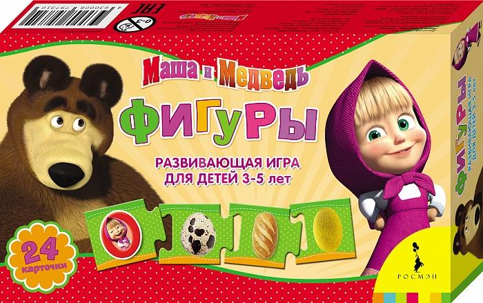 Маша и Медведь Обучающая игра Фигуры развивающая игра пазл маша и медведь 4 элемента