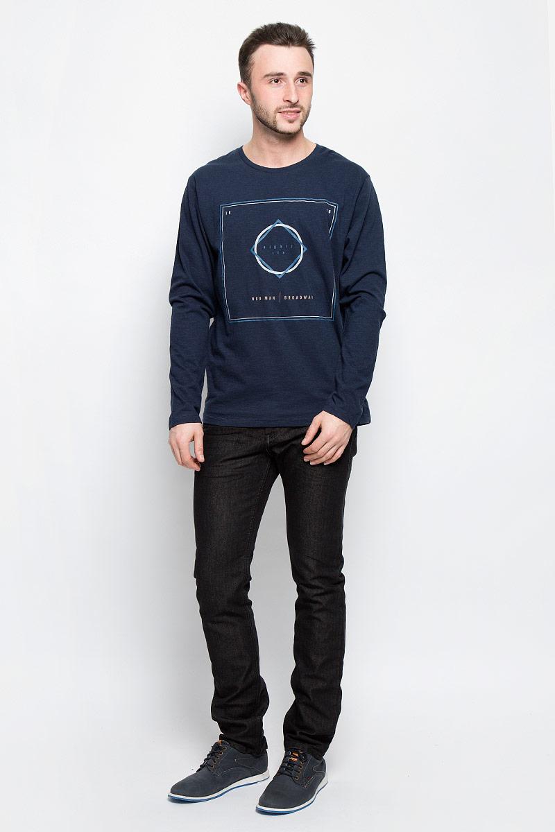 Лонгслив мужской Broadway Rod, цвет: темно-синий. 20100384_56B. Размер M (48) свитер женский broadway skyla цвет молочный 10156631 035 размер l 48