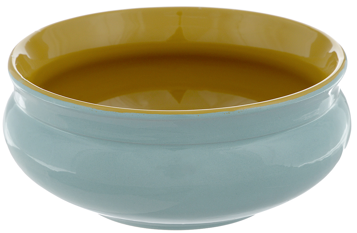 Тарелка глубокая Борисовская керамика Скифская, цвет: бирюзовый, горчичный, 800 млРАД14457937_бирюзовыйГлубокая тарелка Борисовская керамика Скифская выполнена из высококачественной керамики. Изделие сочетает в себе изысканный дизайн с максимальной функциональностью. Она прекрасно впишется в интерьер вашей кухни и станет достойным дополнением к кухонному инвентарю. Тарелка Борисовская керамика Скифская подчеркнет прекрасный вкус хозяйки и станет отличным подарком. Можно использовать в духовке и микроволновой печи.Диаметр тарелки (по верхнему краю): 16 см.Объем: 800 мл.