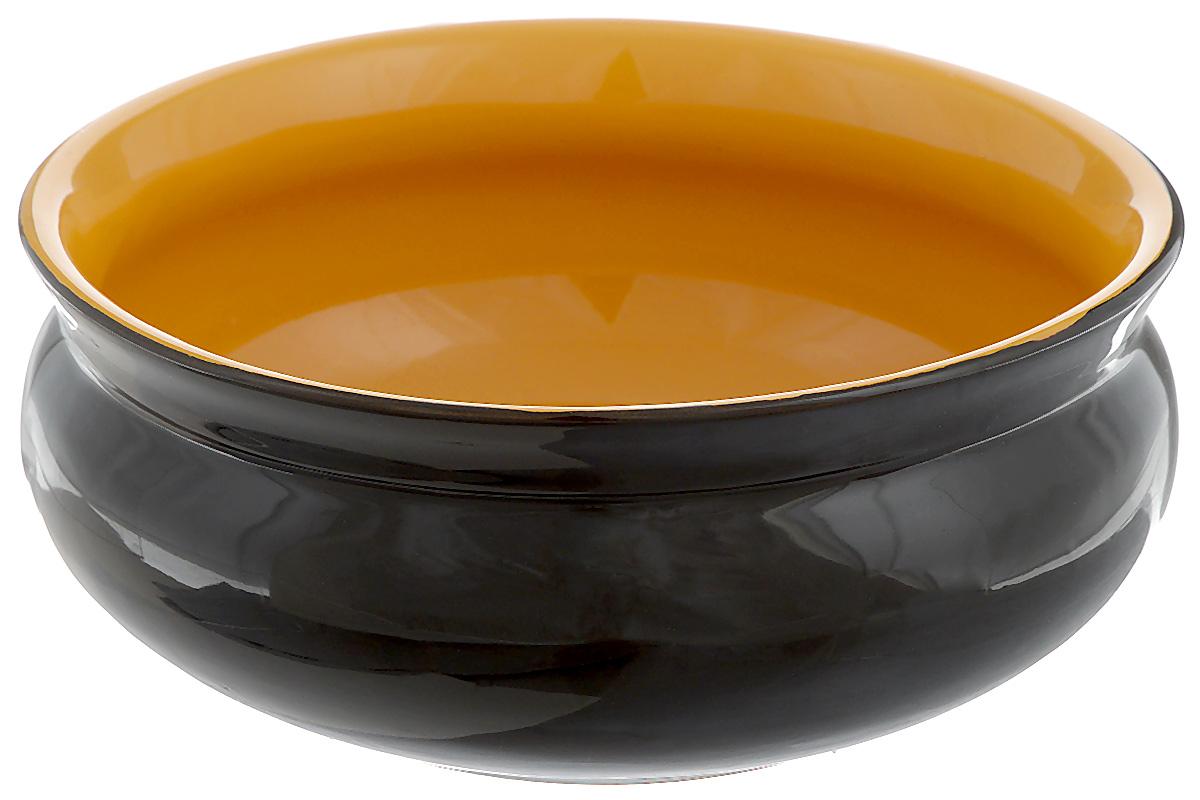 Тарелка глубокая Борисовская керамика Скифская, цвет: черный, желтый, 500 млРАД14458194_черный, желтыйГлубокая тарелка Борисовская керамика Скифская выполненаиз керамики. Изделие сочетает в себе изысканный дизайн смаксимальной функциональностью. Она прекрасно впишется винтерьер вашей кухни и станет достойным дополнением ккухонному инвентарю.Такая тарелка подчеркнет прекрасный вкус хозяйки и станетотличным подарком.Можно использовать в духовке и микроволновой печи.Диаметр тарелки (по верхнему краю): 14 см. Объем: 500 мл.