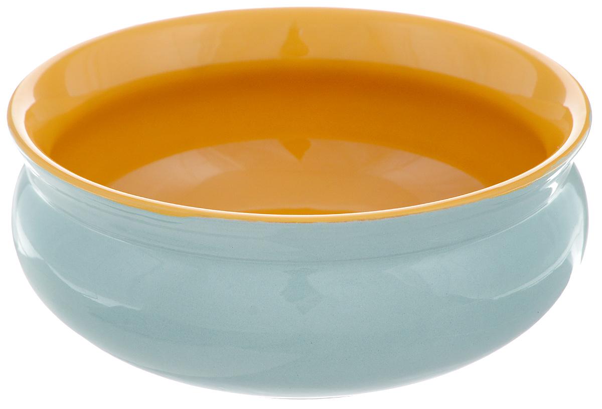 Тарелка глубокая Борисовская керамика Скифская, цвет: бирюзовый, желтый, 500 млРАД14458194_бирюзовыйГлубокая тарелка Борисовская керамика Скифская выполненаиз керамики. Изделие сочетает в себе изысканный дизайн смаксимальной функциональностью. Она прекрасно впишется винтерьер вашей кухни и станет достойным дополнением ккухонному инвентарю.Такая тарелка подчеркнет прекрасный вкус хозяйки и станетотличным подарком.Можно использовать в духовке и микроволновой печи.Диаметр тарелки (по верхнему краю): 14 см. Объем: 500 мл.
