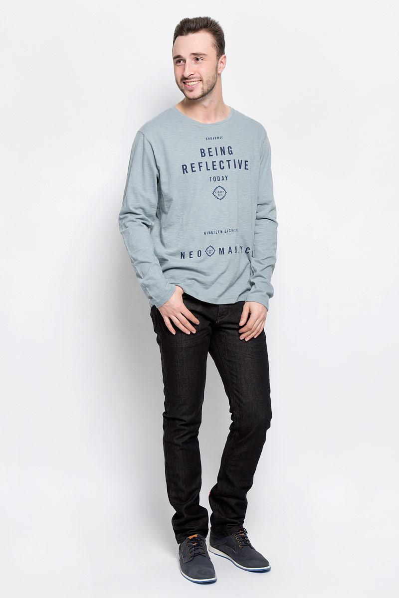 Лонгслив мужской Broadway Rod, цвет: серо-голубой. 20100384_52A. Размер L (50) пуловеры broadway пуловер
