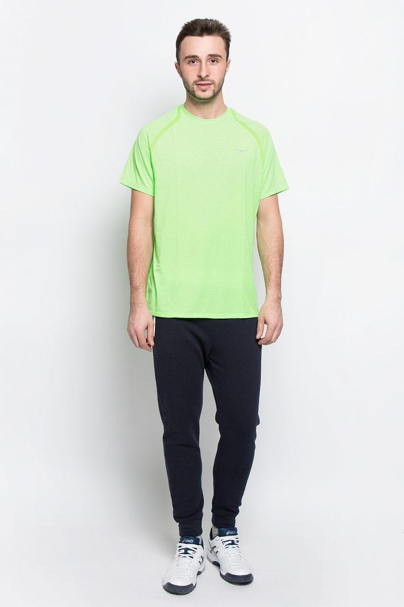 Футболка мужская для бега Saucony Freedom Ss, цвет: зеленый. SA81153-VPS. Размер L (50/52)