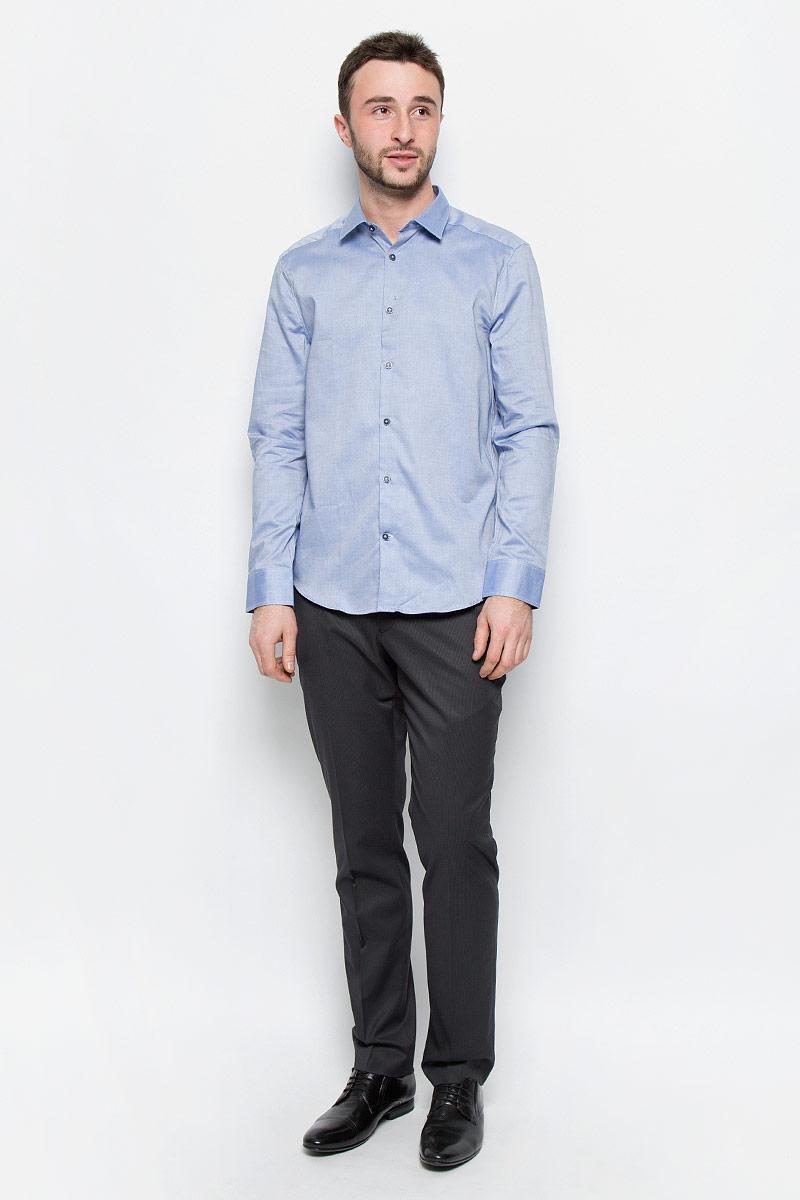 Рубашка мужская Mexx, цвет: голубой. MX3024537_MN_SHG_008. Размер L (50/52) блузка женская mexx цвет молочный mx3002363 wm blg 010 размер l 48 50