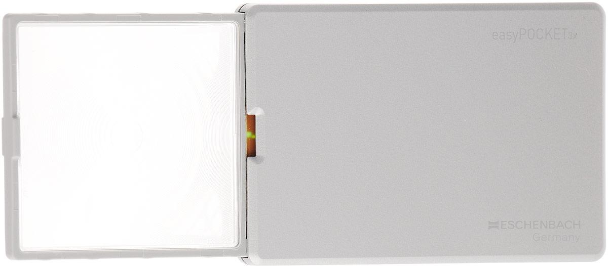 Лупа выдвижная Eschenbach EasyPOCKET, с подсветкой, 3.0х 8.0 дптр, 5 х 4,5 см лупа выдвижная асферическая eschenbach easypocket 3x 50x45 мм с подсветкой черная