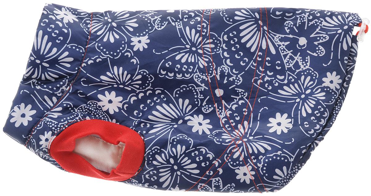 """Жилет для собак Yoriki """"Цветы"""", унисекс, цвет: синий, красный, белый. Размер M"""