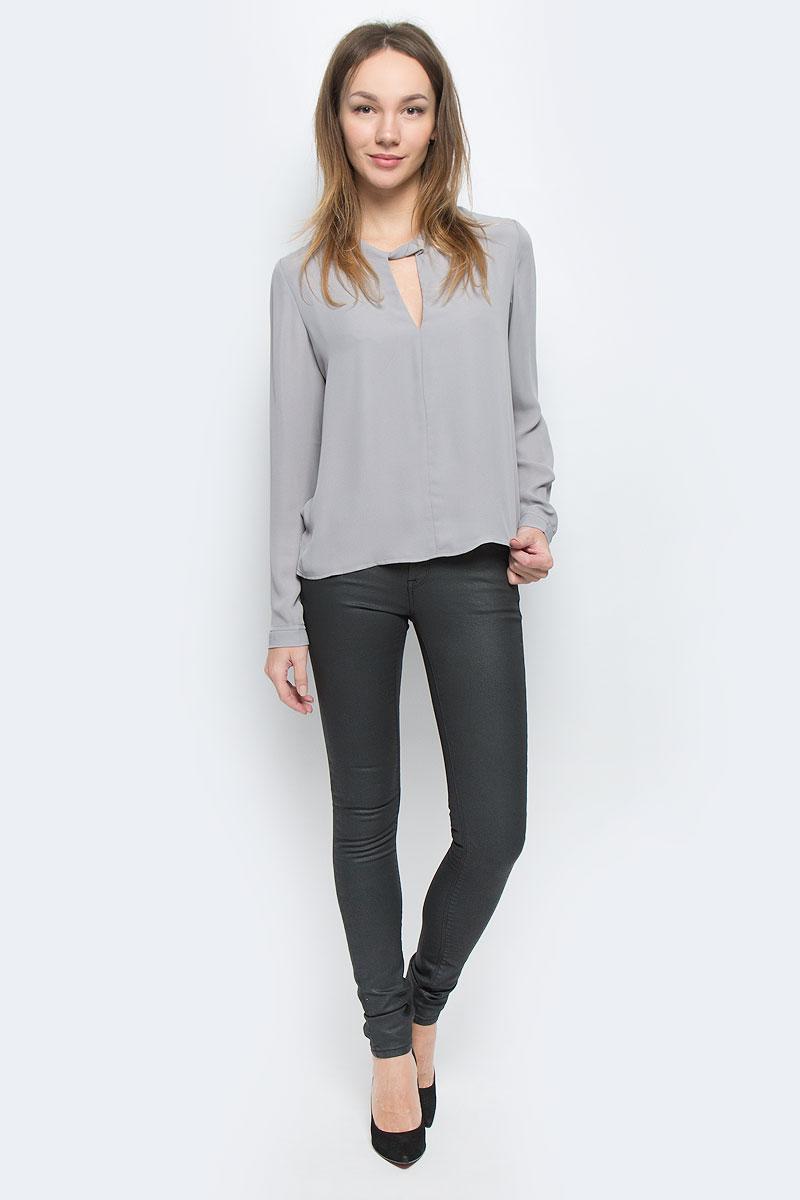 Блузка женская Mexx, цвет: светло-серый. MX3026928_WM_BLG_010. Размер L (48/50) блузка женская mexx цвет молочный mx3002363 wm blg 010 размер l 48 50