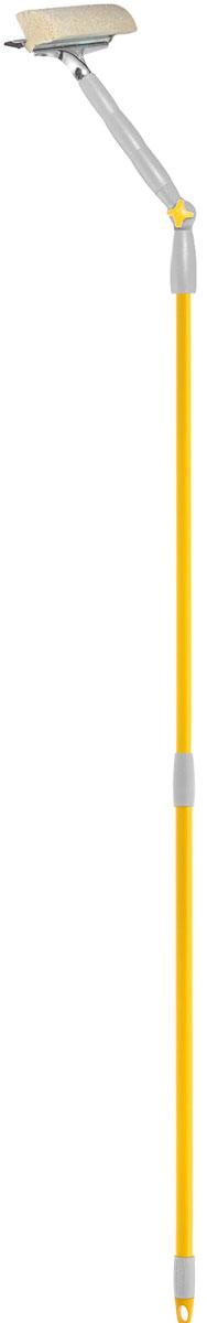 Стеклоочиститель Fratelli Re, с поворотной телескопической ручкой, 25 см860024_зеленый, синийСтеклоочиститель Fratelli Re, выполненный из пластмассы и стали, станет незаменимым помощником при уборке. Он стирает жидкость со стекла благодаря мягкой губке, а для полного вытирания имеется резиновая кромка. Насадка из поролона может использоваться отдельно. Специальная поворотная ручка позволит Вам использвовать стеклоочиститель под разным углом. Имеется крепление к более длинной ручке. Характеристики: Материал:пластмасса, резина, сталь, поролон. Длина ручки: 77-132 см. Ширина рабочей поверхности: 25 см. Изготовитель: Италия. Артикул: 20676-А.