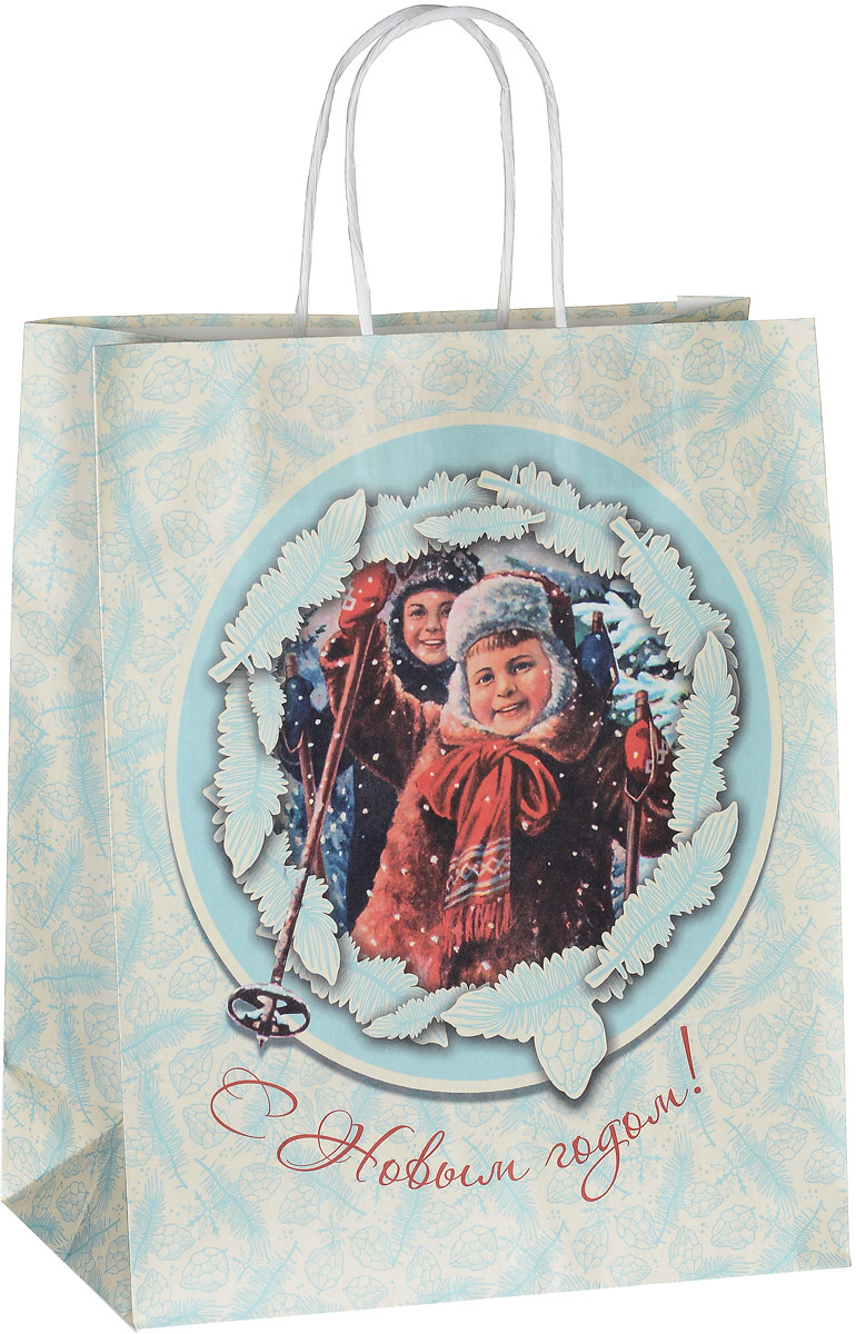 Пакет подарочный Даринчи Новогодний, 27 х 12 х 33 см
