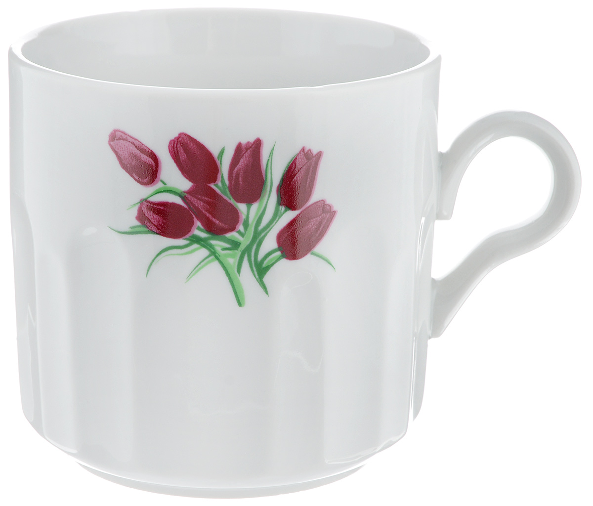 Кружка Фарфор Вербилок Тюльпаны, 500 мл5720980Кружка Фарфор Вербилок Тюльпаны способна скрасить любое чаепитие. Изделие выполнено из высококачественного фарфора. Посуда из такого материала позволяет сохранить истинный вкус напитка, а также помогает ему дольше оставаться теплым.Диаметр по верхнему краю: 9,5 см.Высота кружки: 9,5 см.