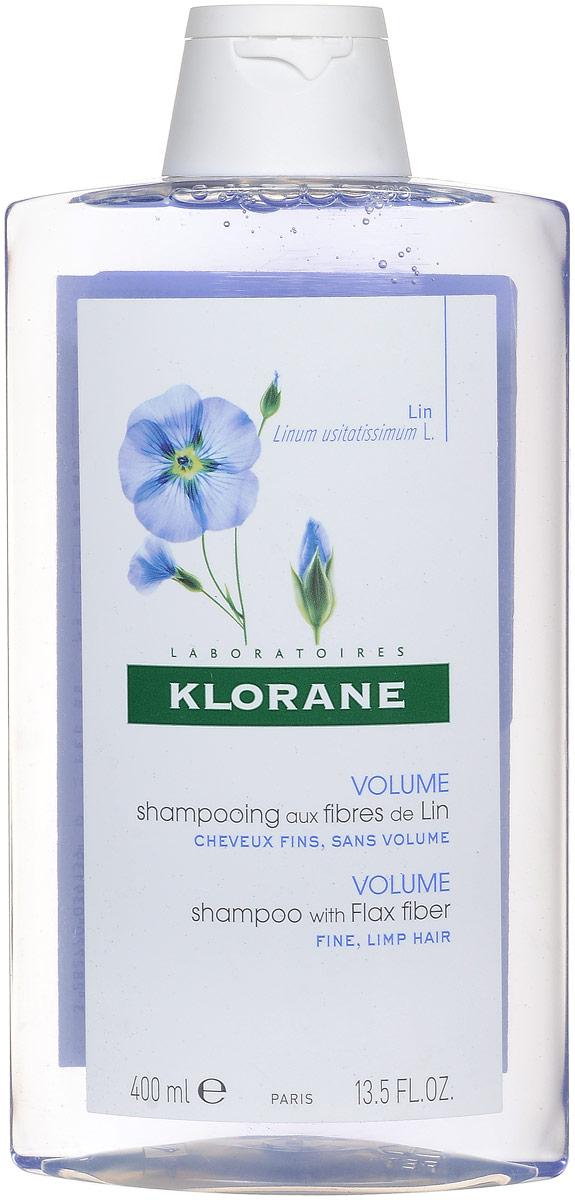 Klorane Fine Hair Шампунь с экстрактом льняного волокна, 400 мл marlies moller specialist сухой шампунь придающий объем с шелком 4г