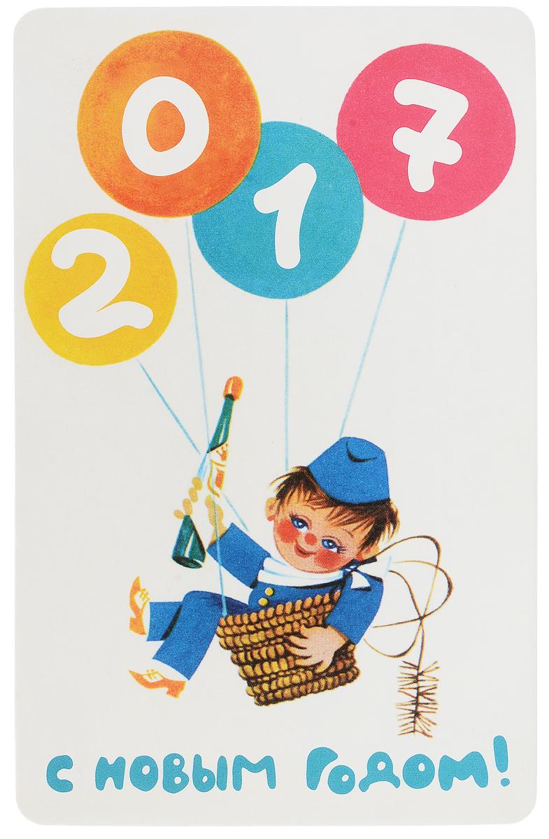 Открытка поздравительная в винтажном стиле Новый год. №330ОТКР №330Оригинальная поздравительная открытка Новый год выполнена из плотного картона. На лицевой стороне расположено красочное изображение. Обратная сторона открытки имеет место для марки и свободное пространство, на ней вы сможете написать собственное послание. Необычная и яркая открытка в винтажном стиле поможет вам выразить чувства и передать теплые поздравления.Такая открытка станет великолепным дополнением к подарку или оригинальным почтовым посланием, которое, несомненно, удивит получателя своим дизайном и подарит приятные воспоминания.