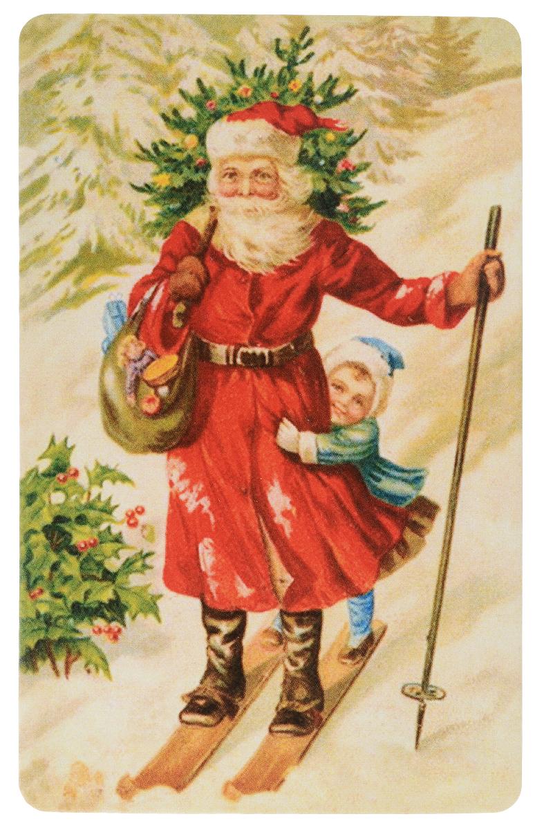 Открытка поздравительная в винтажном стиле Новый год. №327ОТКР №327Оригинальная поздравительная открытка Новый год выполнена из плотного картона. На лицевой стороне расположено красочное изображение. Обратная сторона открытки имеет место для марки и свободное пространство, на ней вы сможете написать собственное послание. Необычная и яркая открытка в винтажном стиле поможет вам выразить чувства и передать теплые поздравления.Такая открытка станет великолепным дополнением к подарку или оригинальным почтовым посланием, которое, несомненно, удивит получателя своим дизайном и подарит приятные воспоминания.