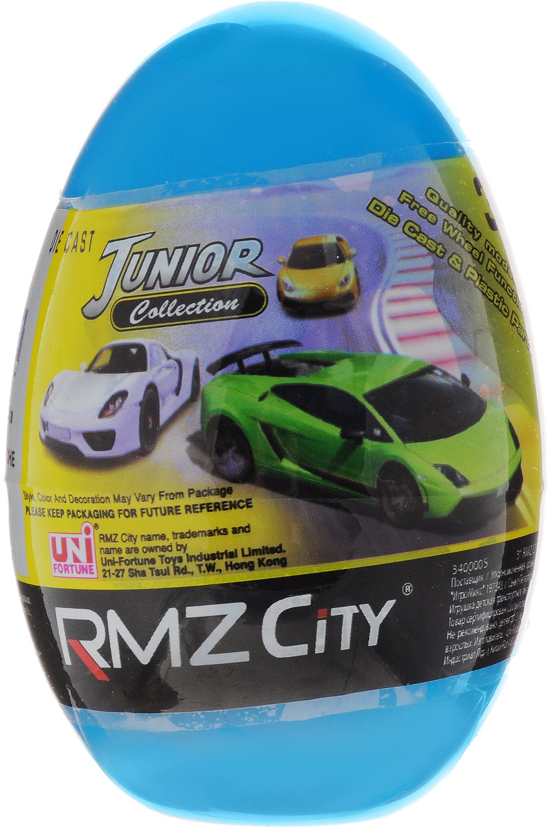 Uni-Fortune Toys Яйцо с моделью автомобиля цвет голубой uni fortunetoys модель автомобиля volkswagen touareg