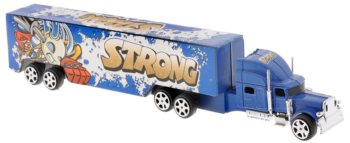 Junfa Toys Грузовик инерционный Strong цвет синий junfa toys автовоз инерционный с погрузчиком excellent transport car