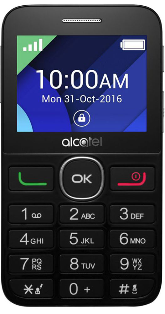 Alcatel 2008G, Black Metal Silver
