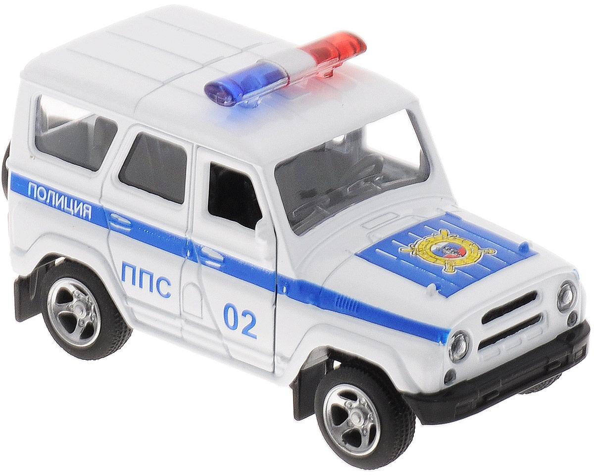 ТехноПарк Машинка инерционная УАЗ Hunter Полиция машинка технопарк уаз патриот полиция 1 50
