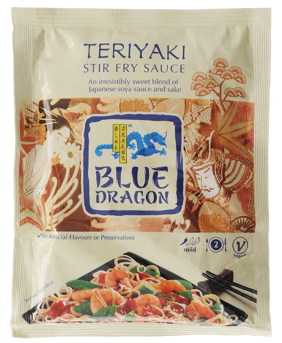 Blue Dragon Соус стир-фрай Терияки, 120 г соус терияки с кунжутом