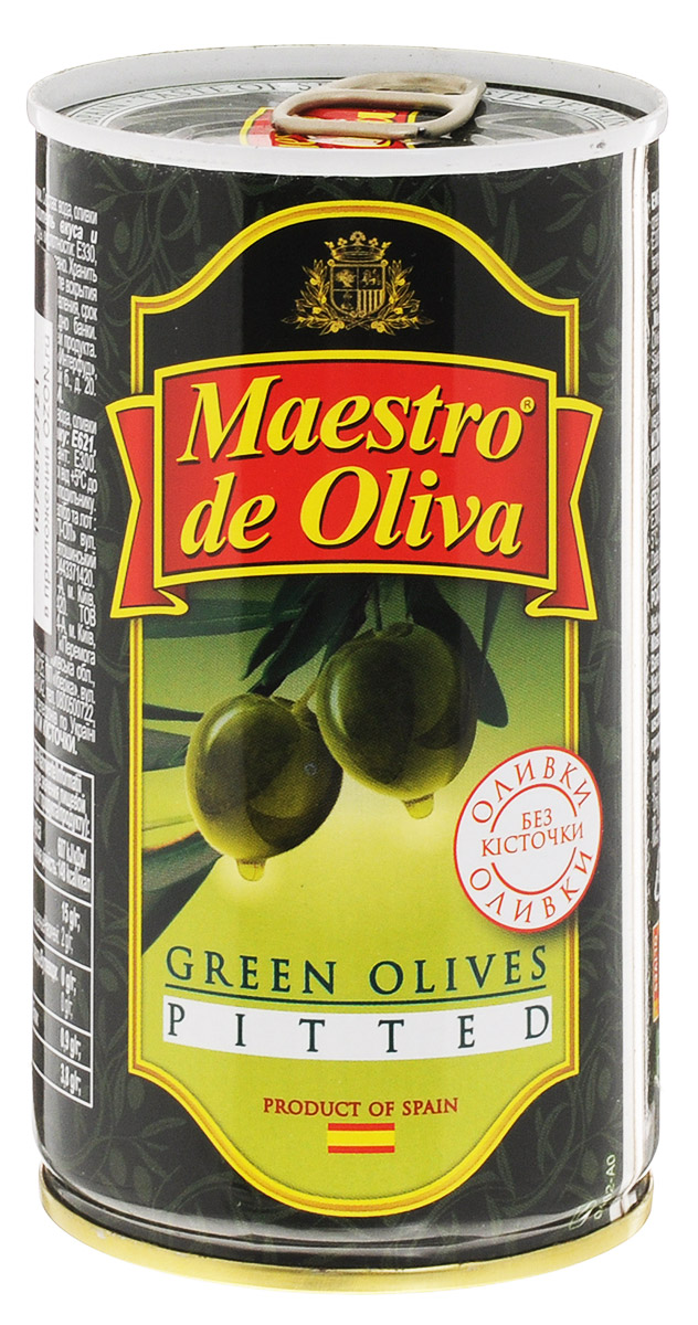 Maestro de Oliva оливки крупные без косточек, 350 г маслины gonzalez gold без косточек 425г