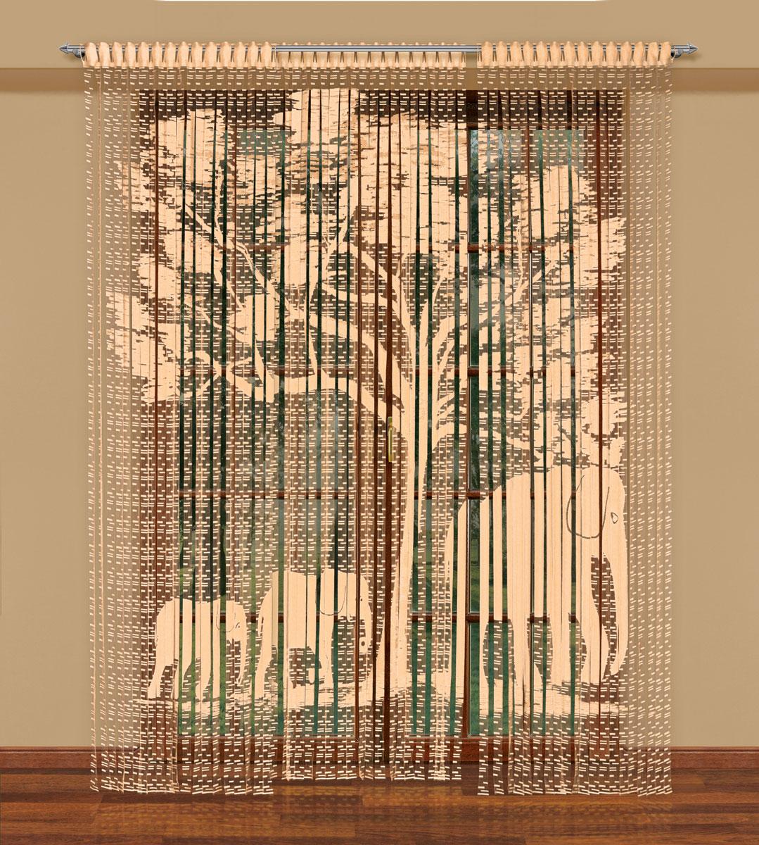Гардина-лапша Haft, на петлях, цвет: кремовый, высота 270 см. 212180212180/250 кремЛегкая гардина-лапша на петлях Haft, изготовленная из полиэстера, станетвеликолепным украшением любого окна. Оригинальный дизайн и приятнаяцветовая гамма привлекут к себе внимание и органично впишутся в интерьеркомнаты.