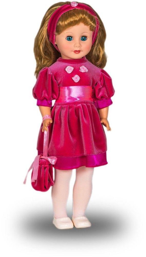 Весна Кукла Людмила озвученная цвет платья розовый весна кукла озвученная оля цвет одежды белый розовый голубой