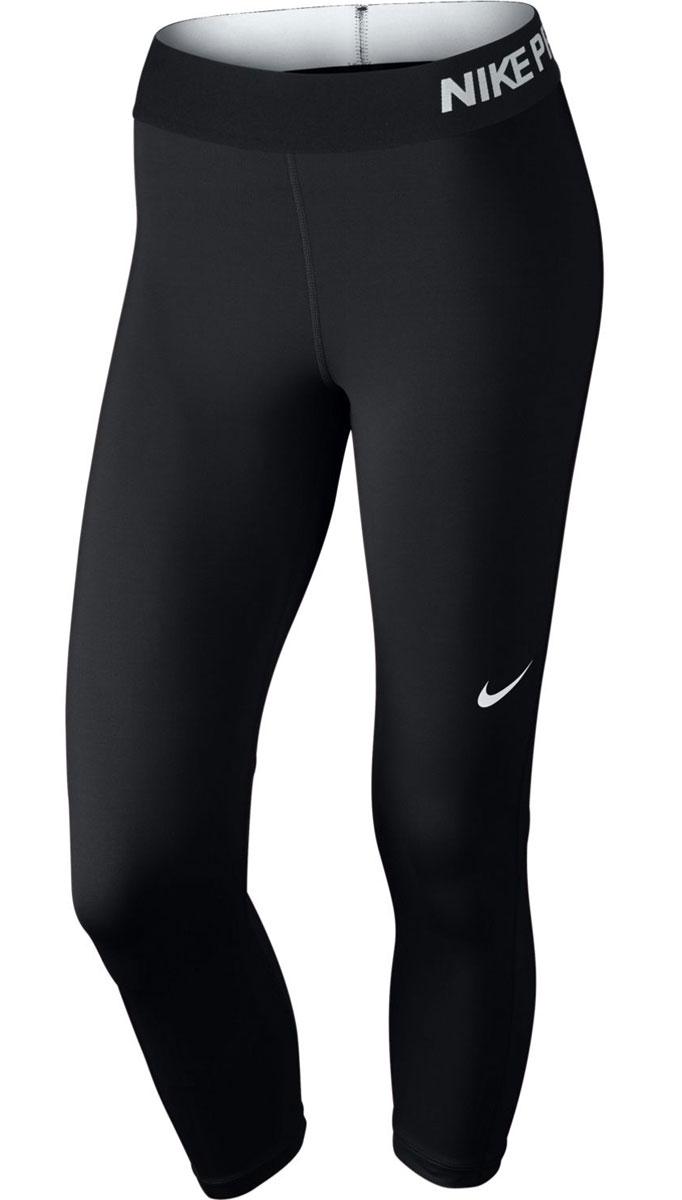 Капри для фитнеса женские Nike Pro Cool, цвет: черный. 725468-010. Размер S (42/44)725468-010Капри Nike Pro Cool идеально подходят для тренировок. Модель изготовленная из эластичного материала Dri-FIT обеспечивает комфорт, сетчатый материал под коленями отлично справляется с терморегуляцией. Плотный эластичный пояс облегает и фиксируется на талии.