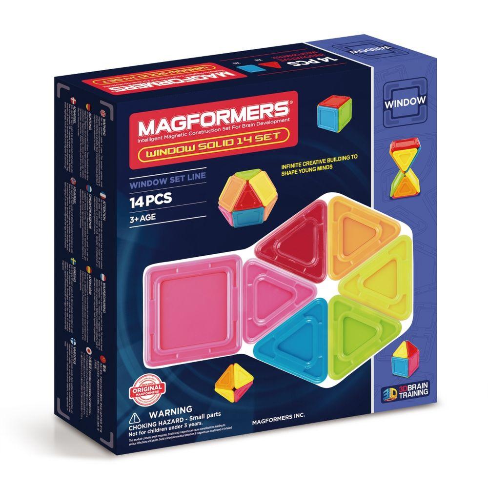 Magformers Магнитный конструктор Window Solid 14 Set магнитный конструктор magformers window solid 14 элементов 714005