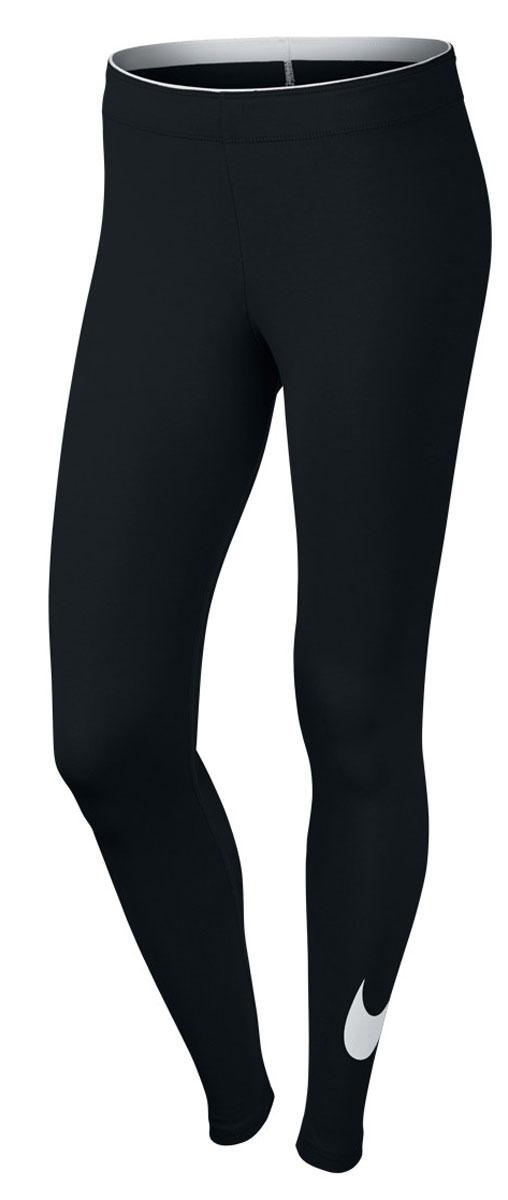 Леггинсы женские Nike Club Legging-Logo 2, цвет: черный. 815997-010. Размер  (46/48)