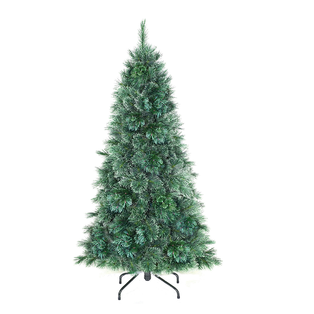 Кедр искусственный B&H Серебряный иней, напольный, высота 1,5 мBH1209-150Искусственный кедр B&H Серебряный иней - прекрасный вариант для оформления вашего интерьера к Новому году. Такие деревья абсолютно безопасны, удобны в сборке и не занимают много места при хранении.Кедр состоит из верхушки, сборного ствола и устойчивой подставки. Кедр быстро и легко устанавливается и имеет естественный и абсолютно натуральный вид, отличающийся от своих прототипов разве что совершенством форм и мягкостью иголок.Иголочки не осыпаются, не мнутся и не выцветают со временем. Полимерные материалы, из которых они изготовлены, нетоксичны и не поддаются горению. Искусственный кедр B&H Серебряный иней обязательно создаст настроение волшебства и уюта, а также станет прекрасным украшением дома на период новогодних праздников.
