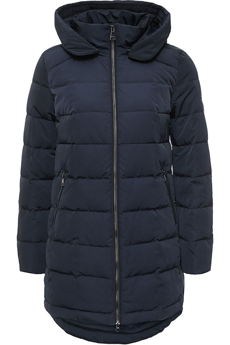 Пальто женское Finn Flare, цвет: темно-синий. W16-32006_101. Размер L (48) платье finn flare цвет серый синий черный w16 11030 101 размер l 48
