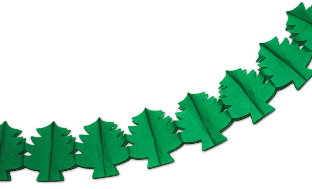 Гирлянда бумажная B&H Елочка, длина 3 мBH1218_елочкаГирлянда бумажная Елочка - великолепный и стильный вариант для украшения домашнего интерьера. Несколькими простыми движениями руки ваш шкаф, антресоль или просто стенка смогут существенно преобразиться благодаря бумажной гирлянде из стилизованных элементов. Повесить ее не составит труда при помощи прочной нити, а благодаря специальной конструкции ее можно будет с легкостью сложить обратно до следующего Нового года.