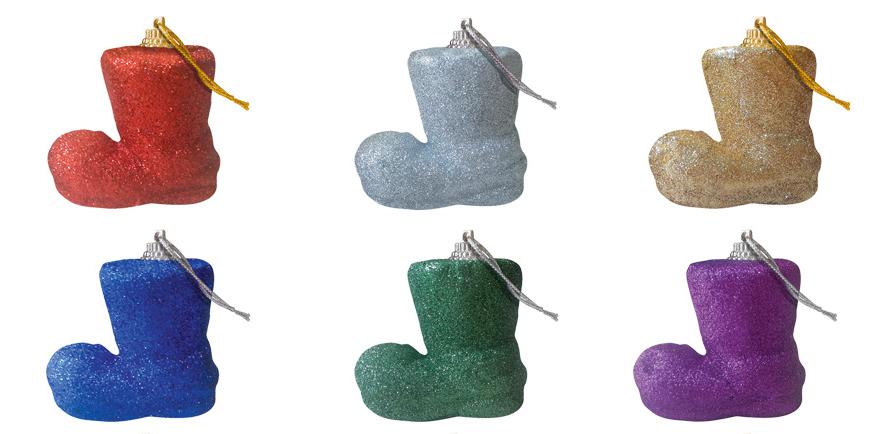 Набор новогодних подвесных украшений B&H Сапог, 6 шт