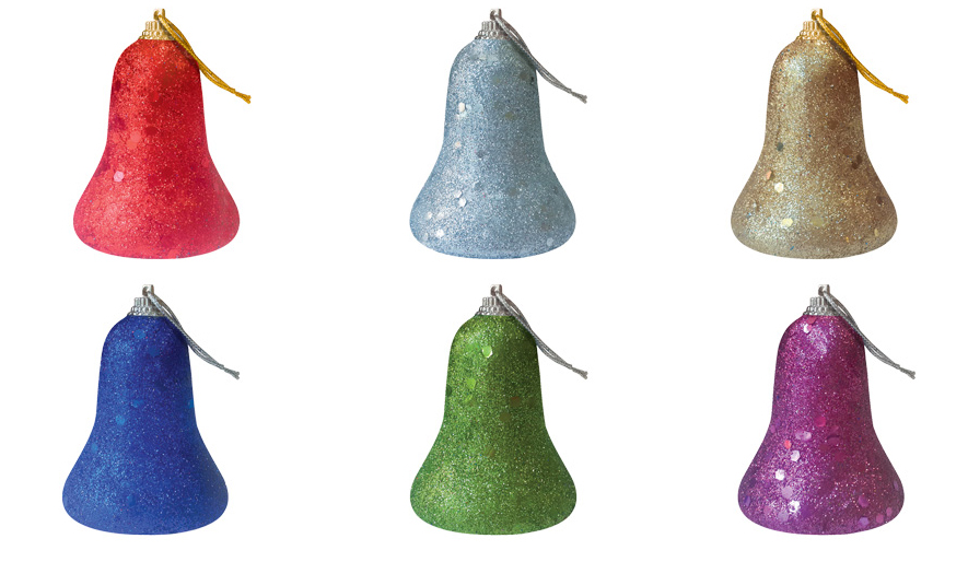 Набор новогодних подвесных украшений B&H Колокольчик, 6 штBH1049_колокольчикРазноцветные елочные украшения B&H выполнены изпенопласта, обсыпанного цветными блестками, виде колокольчика. Новогодние украшения несут в себе волшебство и красоту праздника. Создайте в своем доме атмосферу тепла, веселья и радости, украшая его всей семьей.В наборе 6 украшений.