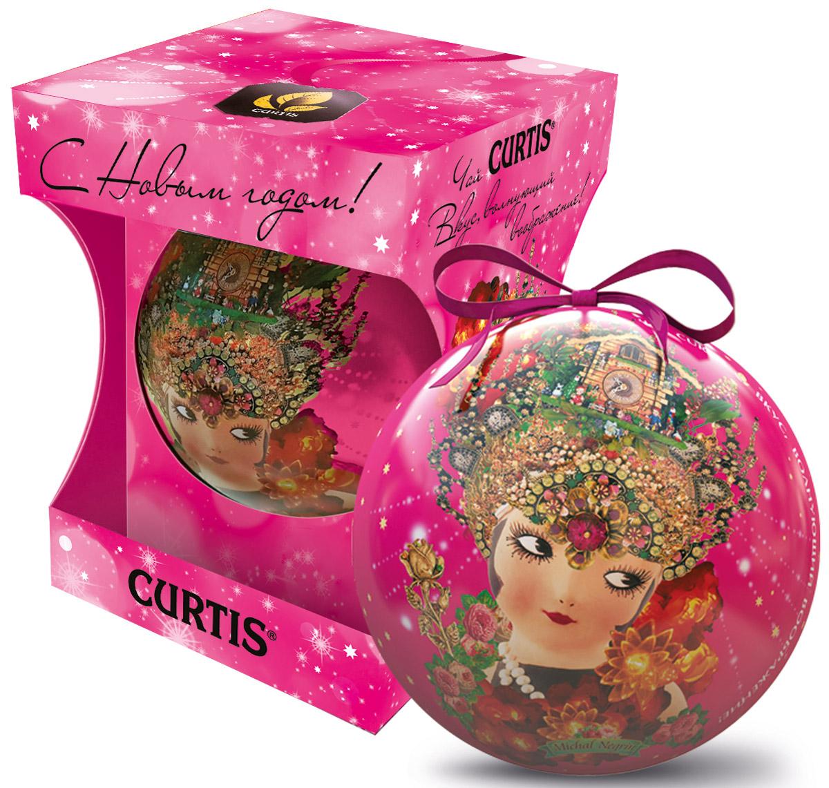 Curtis She-Shy Christmas Ball розовый, черный листовой чай, 30 г greenfield christmas mystery черный листовой чай 100 г