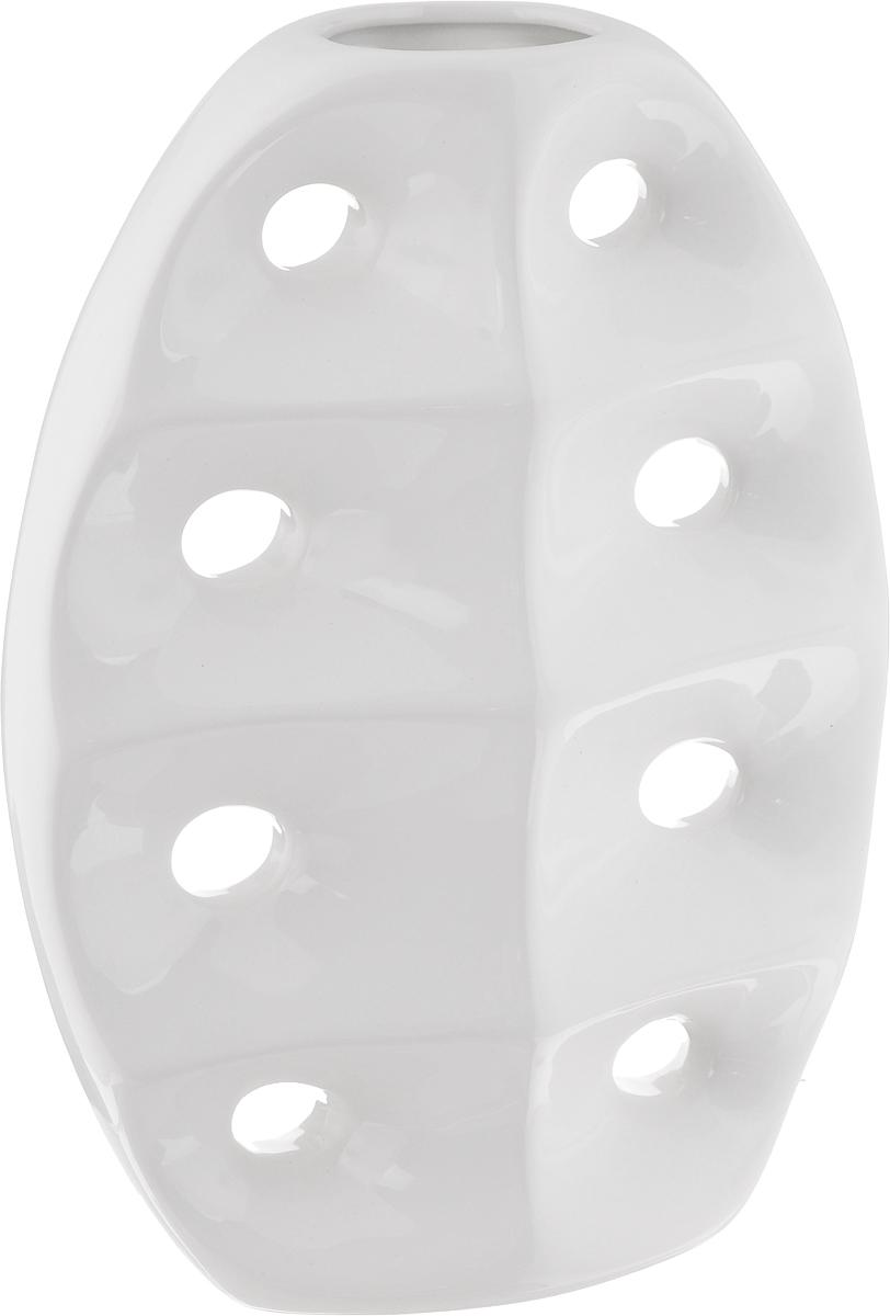 Ваза House & Holder, высота 28,5 смYDY16210Экстравагантная ваза House & Holder изготовлена из керамики. Такое оформление делает ее изящным украшением интерьера.Ваза House & Holder дополнит интерьер офиса или дома и станет желанным и стильным подарком.Размер вазы: 20,5 х 9 х 28,5 см.