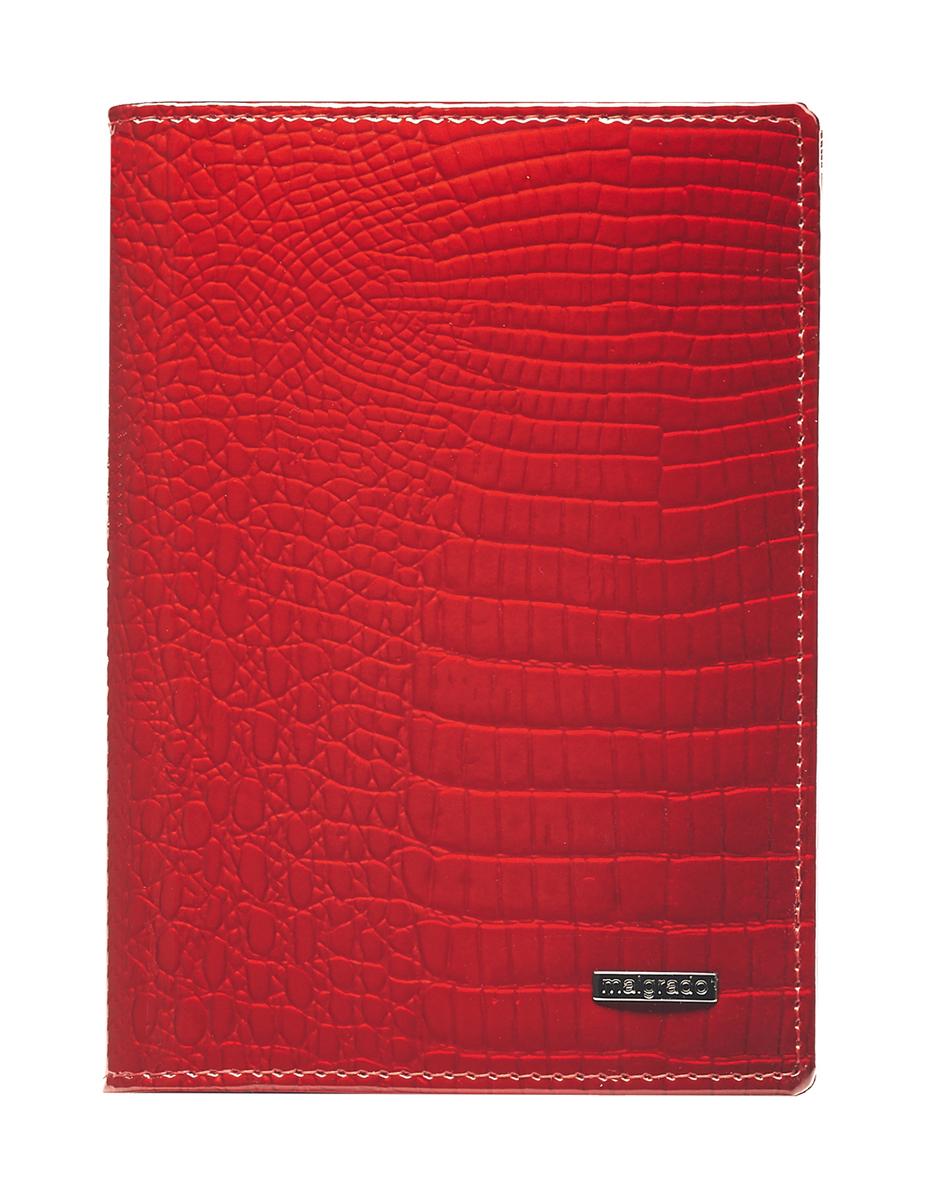 Обложка для паспорта Malgrado, цвет: красный. 54019-1-44#Натуральная кожаСтильная обложка для паспорта Malgrado изготовлена из натуральной лакированной кожи красного цвета с тиснением под рептилию. Внутри содержит прозрачное пластиковое окно, съемный прозрачный вкладыш для полного комплекта автодокументов, пять отделений для кредитных и дисконтных карт. Обложка упакована в подарочную картонную коробку с логотипом фирмы.Такая обложка станет замечательным подарком человеку, ценящему качественные и практичные вещи. Характеристики:Материал: натуральная кожа, пластик. Размер обложки: 13,5 см х 9,5 см х 1,5 см. Цвет: красный. Размер упаковки:15,5 см х 11,5 см х 3,5 см. Артикул: 54019-1-44#.