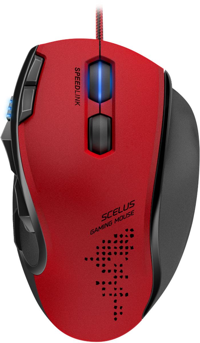 Speedlink Scelus, Black Red мышь игроваяSL-680004-BKRDИгровая мышь Speedlink Scelus благодаря двум колесикам удваивает шансы на победу. При этом данная мышь являет собой идеальную комбинацию новейших технологий, высокого уровня комфорта и простоту использования. Высокая точность сенсора, возможность выбора подсветки зоны колесика из 64 цветовых оттенков сделают игровой процесс еще более приятным. Speedlink Scelus также отличается серьезным конфигурационным ПО: мышь можно оптимально настроить под ваш стиль игры, легко менять профиль, создавать экономящие время макросы. Еще одно уникальное дополнение: скачайте и установите на ваш смартфон или планшет (iOs или Android), и вы сможете менять конфигурацию вашей мыши даже не покидая игровой процесс! Еще одна возможность для получения дополнительного преимущества над соперниками по скорости и точности.8 программируемых кнопок:Высокочувствительные кнопки мгновенно переносят ваши команды у игру, две дополнительные боковые кнопки можно задействовать как для выделенных игровых команд, так и для голосового чата.Оптический сенсор с разрешением 3200 dpi:Надежный оптический сенсор прекрасно работает без срывов на любых поверхностях, а возможность выбора нескольких вариантов разрешения до 3200 dpi поможет подобрать идеальное разрешение сенсора для различных игровых ситуаций.Поддержка макросов:Позволяет записать определенную последовательность действий на любую из кнопок мыши. С данной функцией вы всегда будете на шаг впереди соперника!Мобильное приложение:С помощью мобильного приложения для устройств на базе Android и iOs вы можете управлять настройками мыши, не покидая игровой процесс. Еще одна возможность для получения дополнительного преимущества над соперниками по скорости и точности!2 колеса прокрутки:Дополнительное колесико еще больше расширит ваши игровые возможности с помощью возможности программирования любых удобных для вас функций.Встроенная память:Ваши настройки профиля всегда с вами: благодаря встроенной памяти, вы може