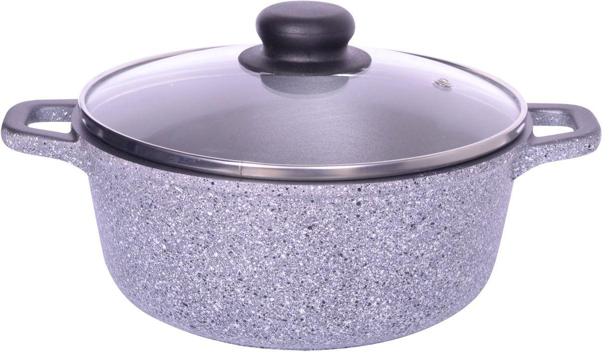 Кастрюля Casta Megapolis с крышкой, с антипригарным покрытием, 2 л. МР2Л-КСН/КРМР2Л-КСН/КРКастрюля алюминиевая с антипригарным покрытием со стеклянной крышкой 2л