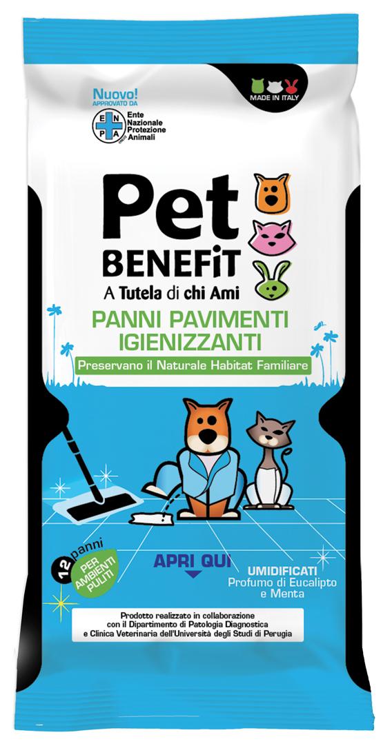 """Влажные салфетки очищающие """"Pen Benefit"""", для уборки за животными, 12 шт"""