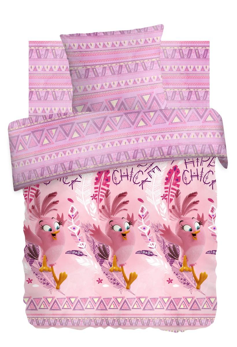 Комплект детского постельного белья Angry Birds Стелла, цвет: розовый (8764/8765 вид 1)349406