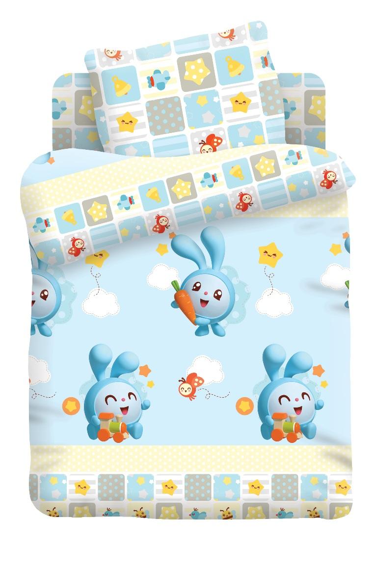 Малышарики Комплект белья для новорожденных Крош цвет голубой 8790/8791368175