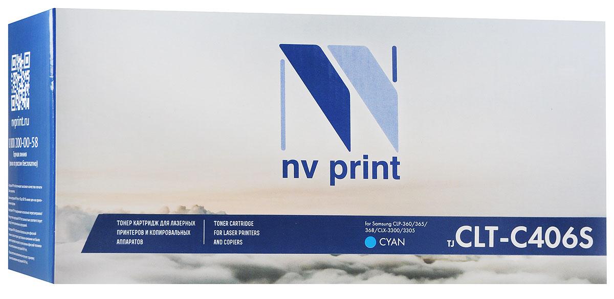 NV Print CLT-C406S, Cyan тонер-картридж для Samsung CLP-360/365/368/CLX-3300/3305