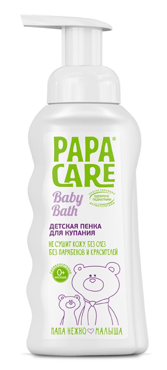 Papa Care Детская пенка для купания с помпой 250 млPC06-00130Пенка для купания с экстрактом календулы, алоэ-вера и розы в комплексе спантенолом оказывают противовоспалительное, увлажняющее и успокаивающеедействие, предупреждают сухость и шелушение. Дозированное потребление иэкономичный расход. Товар сертифицирован.