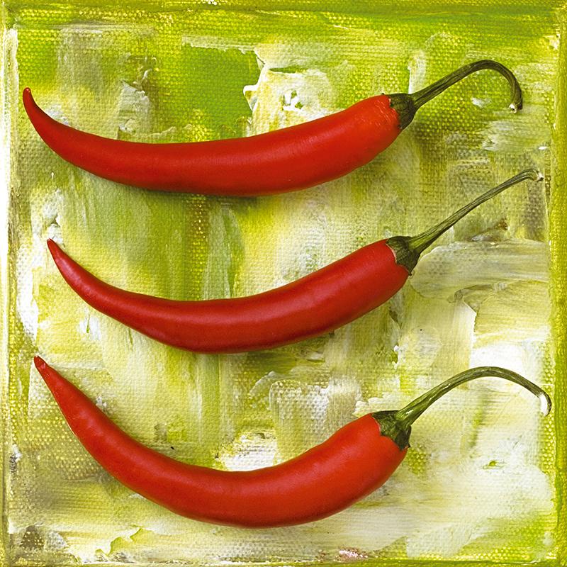 Картина Postermarket Красные перцы, 30 х 30 см