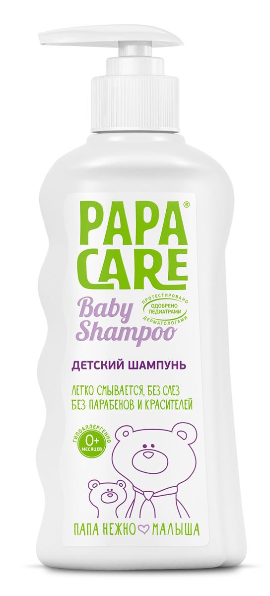 Papa Care Детский шампунь для волос с помпой 250 млPC06-00120Шампунь увлажняет кожу, защищает от сухости и образования корочек. Смягчает волосы, облегчает расчесывание. Не вызывает слез при купании. Горная альпийская вода насыщает кожу влагой, экстракт альпийской розы оказывает противовоспалительное действие. Травяные экстракты череды, календулы, крапивы в комплексе с пантенолом увлажняют и питают кожу, предупреждают появление воспалений.Товар сертифицирован.