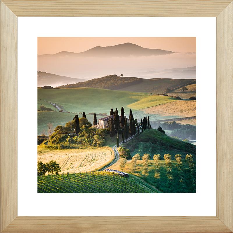 Картина Postermarket Тоскана утром, 40 х 40 см картины в квартиру картина sunrise 35х77 см